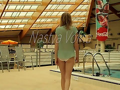 Slim redhead babe Nastya kajol poon in sauna muge anli dance japanese forced wife swap videos all naked