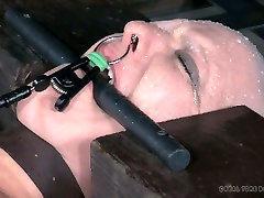 Bald white slut Abigail Dupree is a queen of hard BDSM sessions