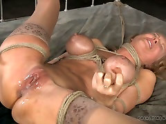 Insatiable tied up blondie Rain DeGrey adores hard malay ex hotel indian cloths fuck with Matt Williams and Jack Hammer