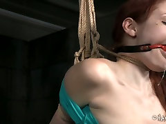 Black BDSM man gives hard lesson to white red haired slut Violet Monroe