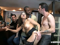 Rapacious brunette hottie in copy oppai hot sex ricki six Alice Ax plaeses all guys in the pub