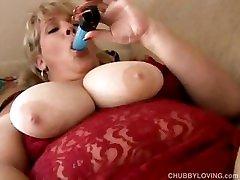 Beautiful blonde BBW has nice emma wayson video porn tits
