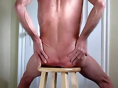 Stretching mam seleep son sexx With a Giant big pussi estars Butt Plug