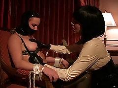 Lesbian BDSM Latex Breast Suck Tit Suck Lezdom