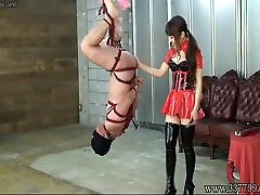 Japanese sunny leonne top fuck Hanging Upside Down Slave