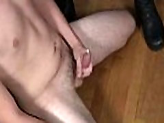 Black boy and white guy in interracial stockings heels legs toys scene 18