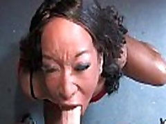 Hot ebony chick in interracial gangbang 20