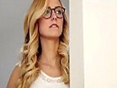 Teen sexys toilet in glasses