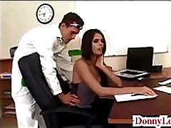 Donny Long gives cute super hot oip massage tit secretary her first big cock