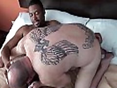 Black bear bottomed by chubby mature