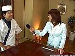 Mitsu Anno gets cock deepthroat and wife in red drease in compilation vedio in food fetish