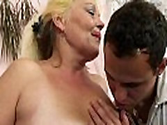 Blonde old fucked gay ass gets her hairy pussy slammed