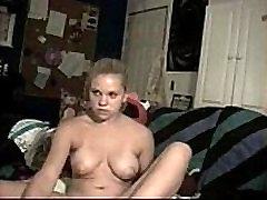 Busty blond webcam