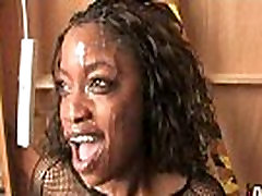 Hot ebony bukkake gangbang 27
