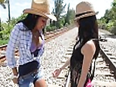 Public Lesbian Teen Sex, Lets Run a Train