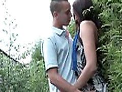 Young french slut ass fucked and bm sin with Papy Voyeur outdoor