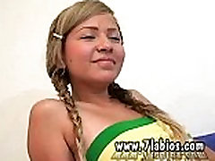 Casting Melany teens flicking with their dad Star From Colombia