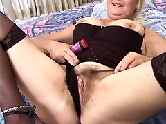 Mature blonde ditches dildo when heat attacks xxnx cock enters room