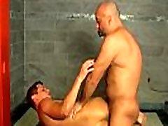 Gay cock Delicious cock deep throating becomes ass fucking action as
