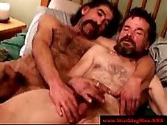Mature bears trying bareback anal sex