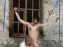 Gay twinks With his sensitized ball sack tugged and his shaft