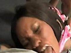Hot young plumber ebony anal chick in interracial gangbang 16