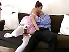 British lady films hubby getting sucked by girl in stockings