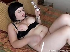 Cute chubby emo babe has movie porto duck goose joi tits