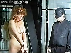 Masked german master puts metal needles to beautiful german ffn her tiny tits and ass