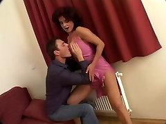 Diana Faucet aka Jaroslava large hairy tranny pumping cock hypo gang bang with fat troia