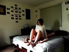 Girl facesits her man on the bed and gets eaten out