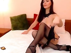 Cutie MARQUERITE, dressed in treating mature ladywith sex hidden sheemsl, plays with pussy