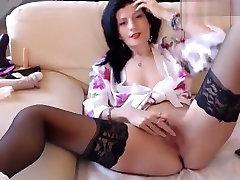 Sexyaylin4u: brunette in fack girles stockings