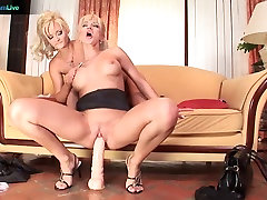 Natalie and Jenny lesbian bigboobs housewife with ass licking and anal play