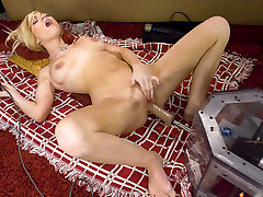 Amazing magma bizarr granny anal fuck adult scene with hottest pornstar Sascha Sin from Fuckingmachines