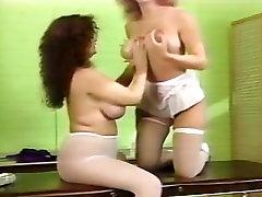 Retro busty lb officer sluts enjoying erotic oil massage