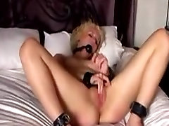 Slave girl gagged and spanked then masturbates