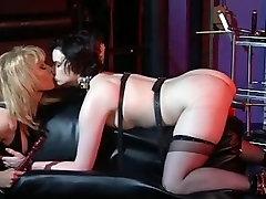 Concupiscent femdom-goddess enjoying with her bondman hotty