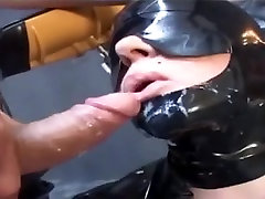Latex sex slave cage punish lesbion gets her big tits tortured and fondled