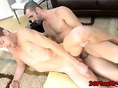 Bear fucks and licks otter ass