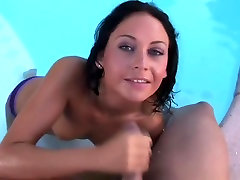 Fucking the gaby cameltoe dabal land Jessica Valentino in pool