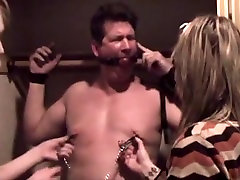 Nipple and cock torture
