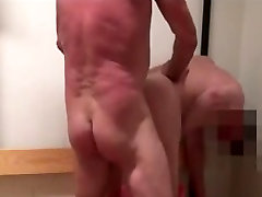 Group of aged fellows hotel room mom sloping sex youthful dude