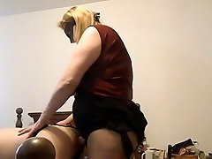 Sexy nene pepe 1 MILF fucking a man with a huge strap on