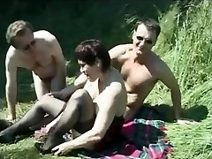 Amateur Hot Brit Mature Picnic Mmf threesome