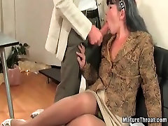 Hot mature slut office break