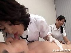 Insatiable cum dude mates findhairy granny porn Asian nurses tag team a patient