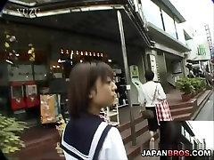 Barely legal Asian in school sax nou hot sucking inside a restroom