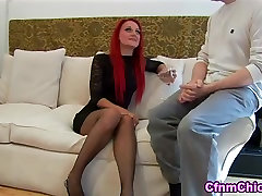 Cfnm babe facesits on loser