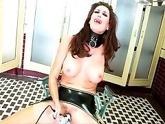 Latex Lesbian On A Lead loriel lee Very Hot